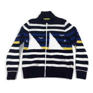 Tommy Hilfiger Mens Full Zip Sweater Nautical